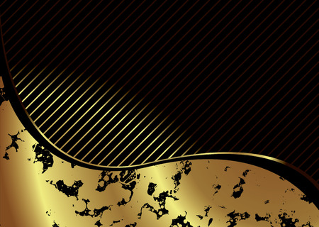 gold frame: Illustrated golden background with room to add your own text