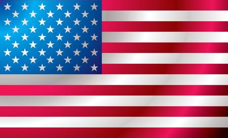 schaalbaar: Geïllustreerd ons vlag met rimpelingen ideale achtergrond afbeelding Stock Illustratie