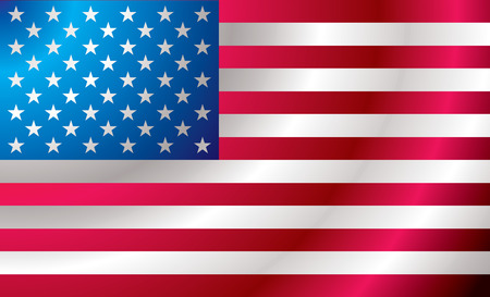 star spangled: Illustrated us flag with ripples ideal background image Illustration