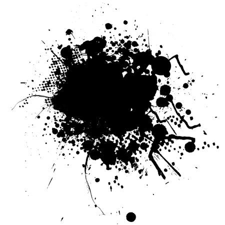 ink splat: Tinta s�mbolo mono con espacio para agregar su propio texto