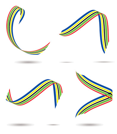 Collection of sports competition coloured ribbons with drop shadow Stock Vector - 3182072
