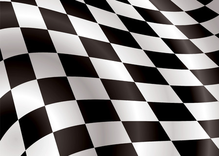 checkered flag bellowing in the wind ideal background image Stock Vector - 3182076