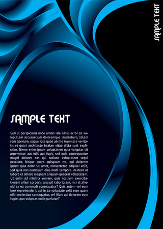 Modern abstract background in blue and black with copy space Illustration