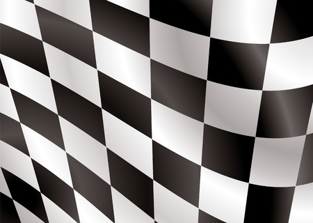 Abstract checkered flag flapping in the wind ideal background Stock Vector - 3236744