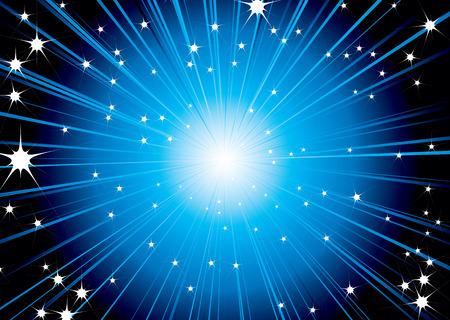 astro: Futuristic space background design in blue and white