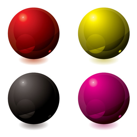 hover: Abstract gel filled buttons in different colors ideal for web Illustration