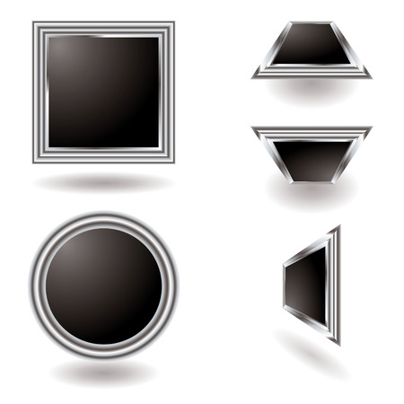 bevel: Illustrated Silver button variation with a metallic bevel