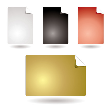 Collection of four page icons with room to add copy Stock Vector - 3266347