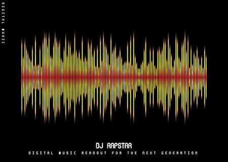 Abstract musical background showing a graphic equalizer in black Vector