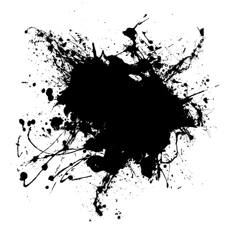 that: Abstract black and white ink splodge that is editable