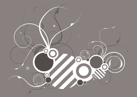 hash: Abstract modern background with hash and floral motif
