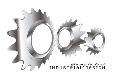 Abstract industrial design with a metal cog logo Vector