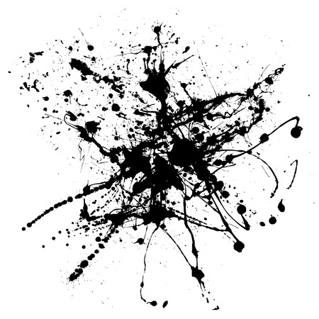 black ink abstract spray that would make an ideal background Stock Vector - 3313516