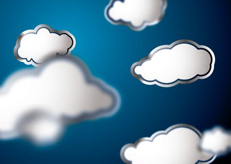 Weather related background showing blured clouds in blue Stock Photo - 3348597