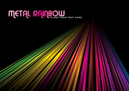 rainbow abstract: rainbow abstract background with line into the distance Illustration