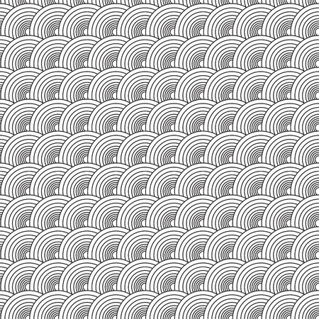 seamlessly: Settanta illustrato circolare disegno astratto che si ripete senza soluzione di  Vettoriali