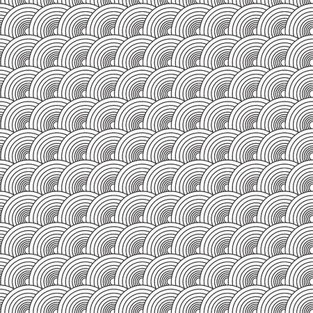 siebziger jahre: Siebziger Jahre zeigt, dass rund abstrakten Design nahtlos wiederholt