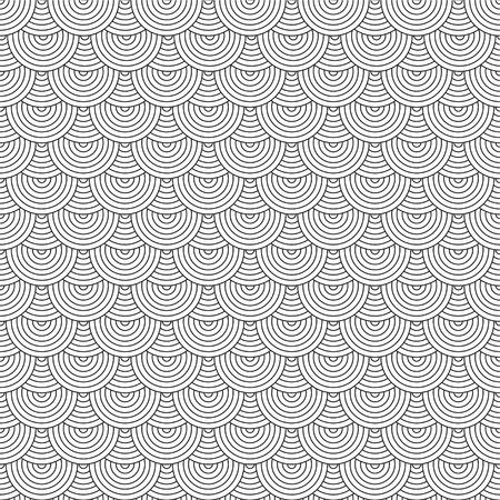 anni settanta: Senza soluzione di ripetere anni settanta design ispirato sfondo in bianco e nero
