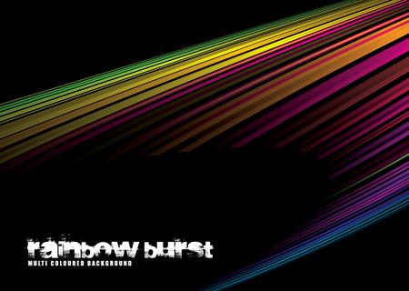 Colorful rainbow illustrated background with lots of copy space Vector