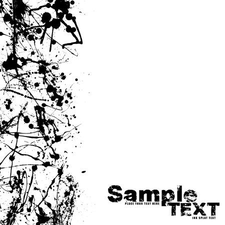 ink splat: Resumen de tinta s�mbolo frontera con espacio para a�adir su propia copia