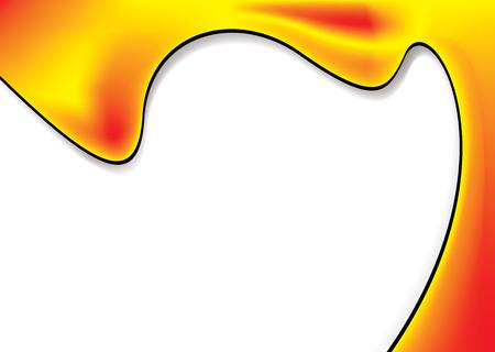 spillage: Pintura de fondo inspirado derrame con espacio para copiar Vectores