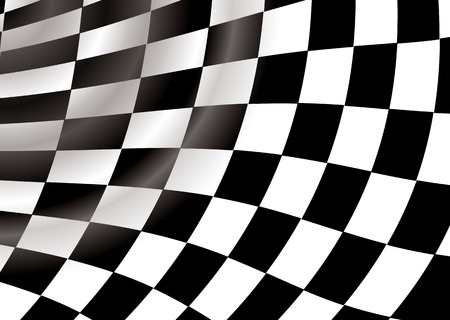 curved checkered flag in a tunnel like background an ideal desktop Stock Vector - 3427332