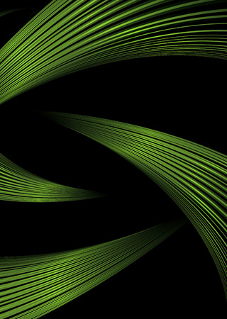 swish: green strands make up a bright futuristic abstract background Illustration