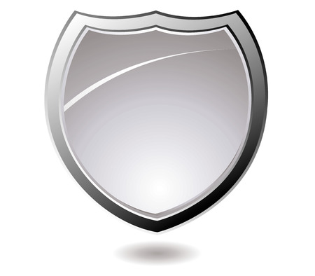 bevel: Modern shield design with drop shadow and a silver bevel