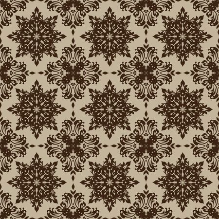 beige illustrated seamless repeating wallpaper design Illustration