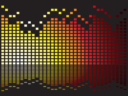 Graphical equaliser illustration ideal as a background or desktop Vector