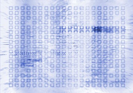 futuristic digital future in blue and white with binary info Stock Photo - 3465337