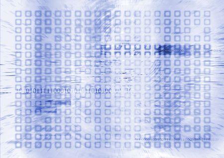futuristic digital future in blue and white with binary info Stock Photo - 3465337