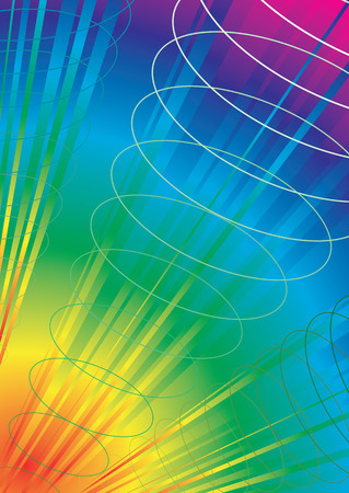 pulses: Exploding rainbow abstract background with pulses of energy Illustration