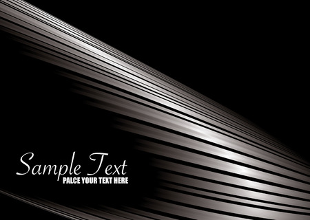 black and silver: Abstract silver and black background with room to add your own copy