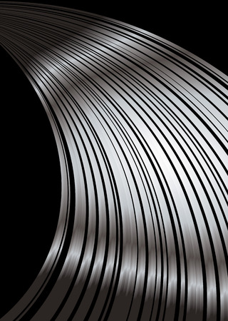 light streaks: Silver and black abstract background with plenty of copy space
