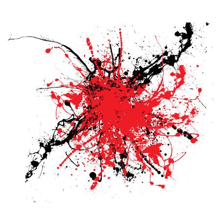 ink splat: Tinta s�mbolo de dos tonos de color de fondo ideal o icono