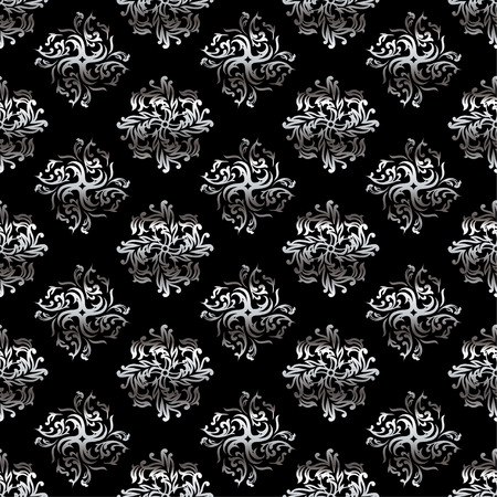 classy black and silver wallpaper design with flowing folds Vector