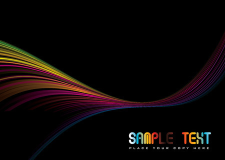 Colorful abstract illustrated rainbow background with copy space Illustration