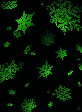 lite: Illustration of snowflake falling in a nights sky lite to give a sense of perspective LANG_EVOIMAGES