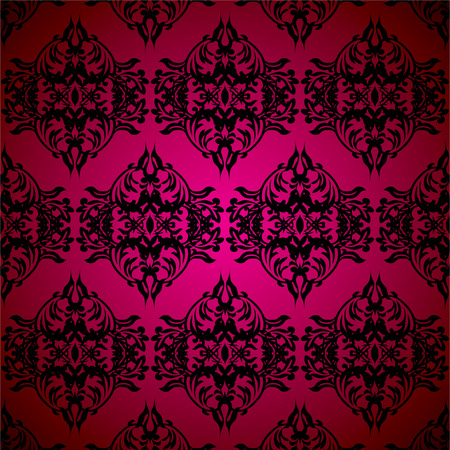 Red and black gothic seamless repeating background illustration