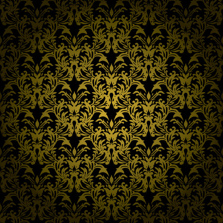 Golden brown floral design that would make an ideal seamless background Vector