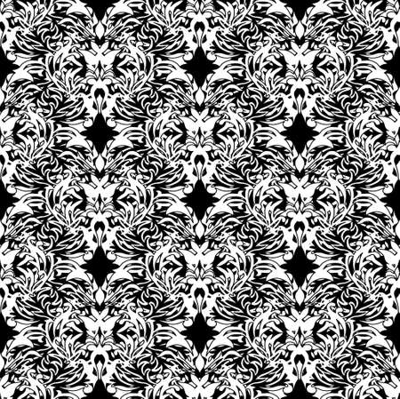 white and black pen and ink floral design ideal background Stock Photo - 3540461