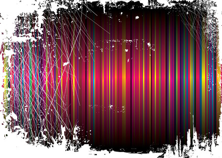Striped rainbow background overlayed by a grunge effect Stock Vector - 3496819