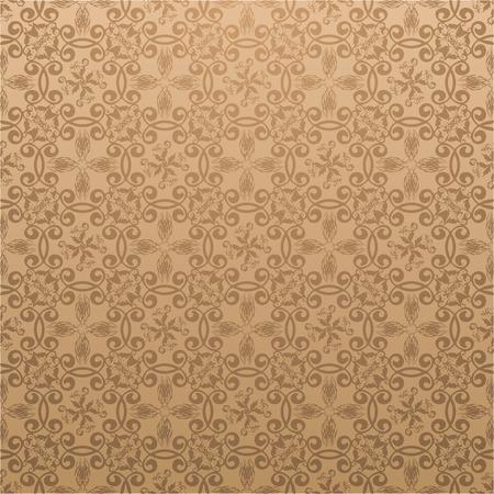 seamlessly: illustrato d'oro in stile retr� carta da parati che si ripete senza soluzione di  Vettoriali