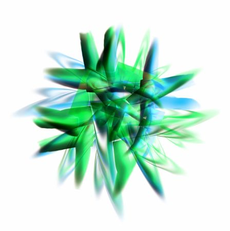 random: Illustrated blue green muddle place on a white background