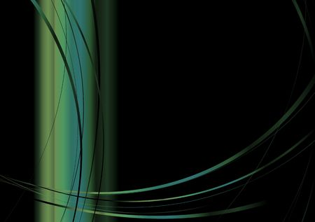 Sparse abstract modern image with flowing lines and copyspace Stock Photo - 3641561