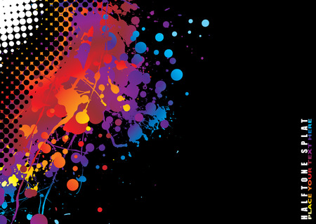 Brightly coloured abstract painted background with copy space Stock Vector - 3650689