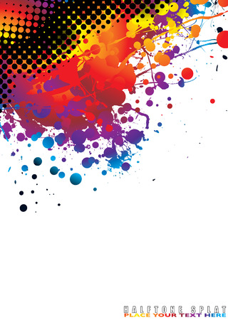 brightly coloured abstract background with halftone dot Stock Vector - 3650687