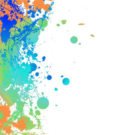 splats: Colourful ink splat background with room to add your own copy LANG_EVOIMAGES