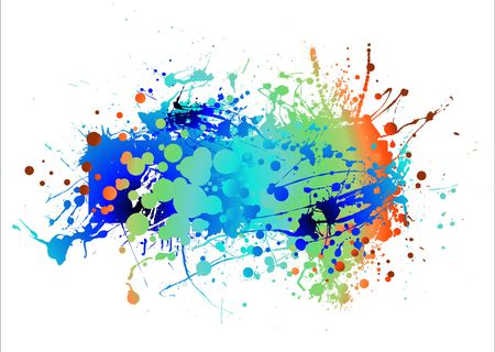 splats: abstract colourful background with room to add your own copy